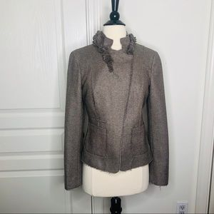 Banana Republic herringbone embellished blazer